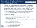 example of employer success with tcoc calpers