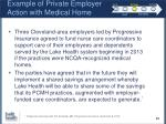 example of private employer action with medical home