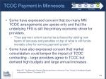 tcoc payment in minnesota