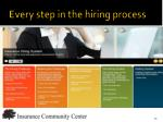 every step in the hiring process