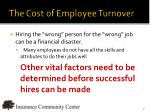 the cost of employee turnover1