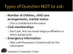 types of question not to ask1