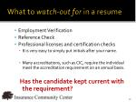 what to watch out for in a resume2
