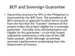 bot and sovereign guarantee