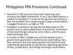 philippines ppa provisions continued