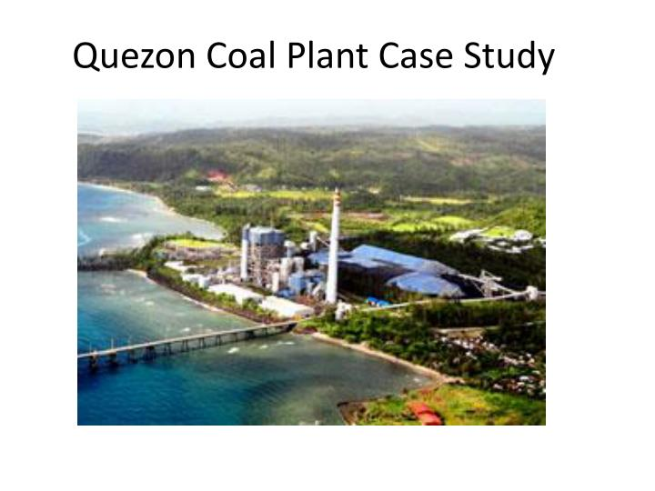 quezon coal plant case study n.