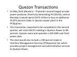 quezon transactions