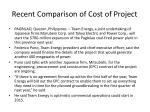 recent comparison of cost of project