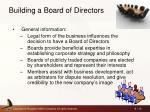 building a board of directors
