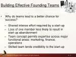 building effective founding teams