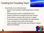 creating the founding team
