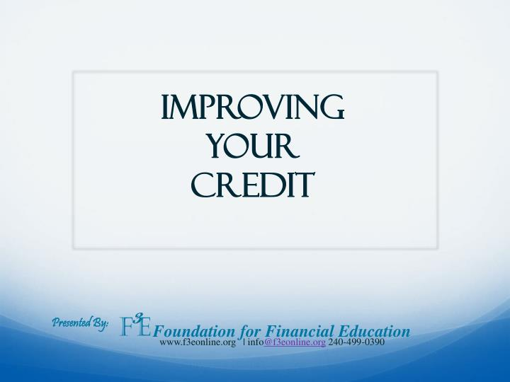 improving your credit n.