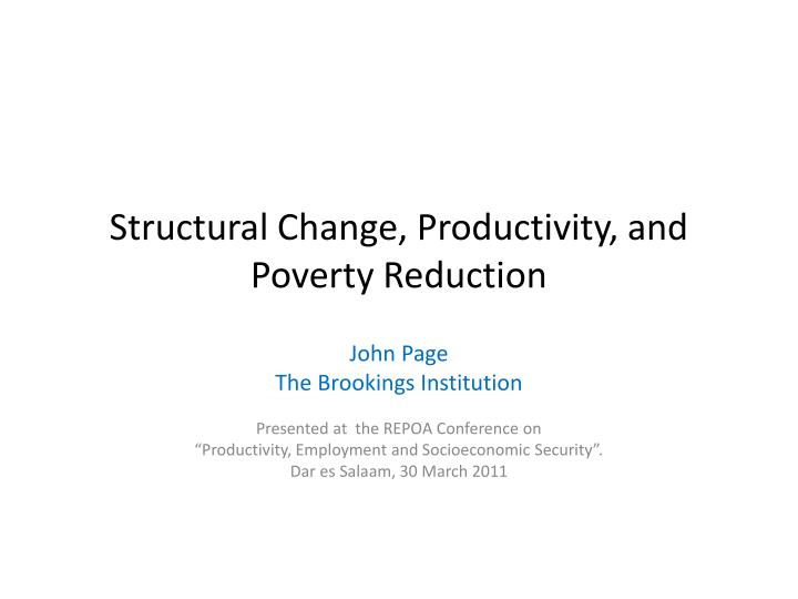 structural change productivity and poverty reduction n.