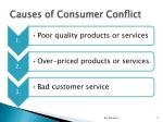 causes of consumer conflict