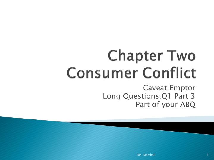 chapter two consumer conflict n.
