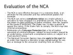 evaluation of the nca