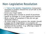 non legislative resolution