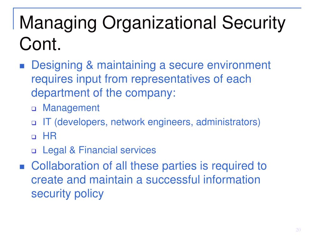 PPT - Chapter 4: Security Policy Documents & Organizational