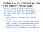 the need for an employee version of the security policies cont1