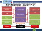 formulation scheme on energy policy