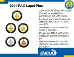 2011 pac lapel pins