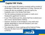 capitol hill visits