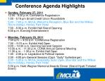 conference agenda highlights