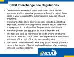 debit interchange fee regulations
