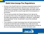 debit interchange fee regulations1