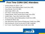 first time cuna gac attendees