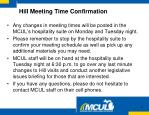 hill meeting time confirmation