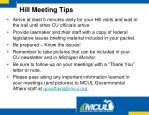 hill meeting tips