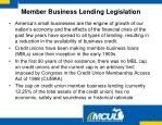 member business lending legislation