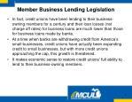 member business lending legislation1