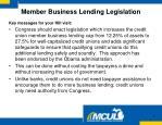 member business lending legislation3
