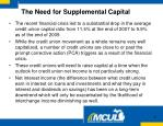the need for supplemental capital1