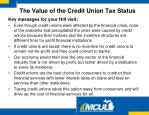 the value of the credit union tax status2