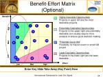 benefit effort matrix optional