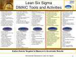 lean six sigma dmaic tools and activities