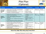 pilot plan optional