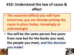 10 understand the law of cause effect1