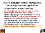 11 re evaluate your time management and realign your time applications1