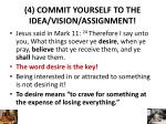 4 commit yourself to the idea vision assignment