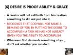 6 desire is proof ability grace