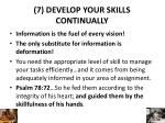 7 develop your skills continually
