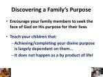 discovering a family s purpose