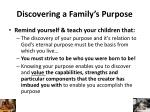 discovering a family s purpose1