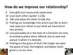 how do we improve our relationship1