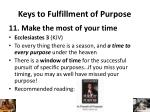 keys to fulfillment of purpose10