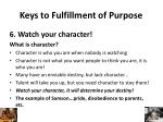 keys to fulfillment of purpose5